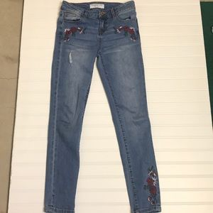 Girls size 12 jeans with flower design